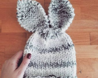 MADE TO ORDER Knit Bunny Hat | Photo Prop | Easter Hat