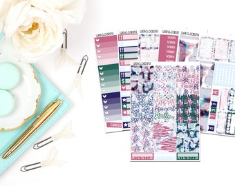 Purple Abstract Collection-Erin Condren Vertical Planner Stickers
