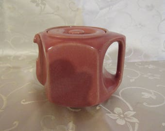 Vintage Dusty Rose Short Spout Teapot