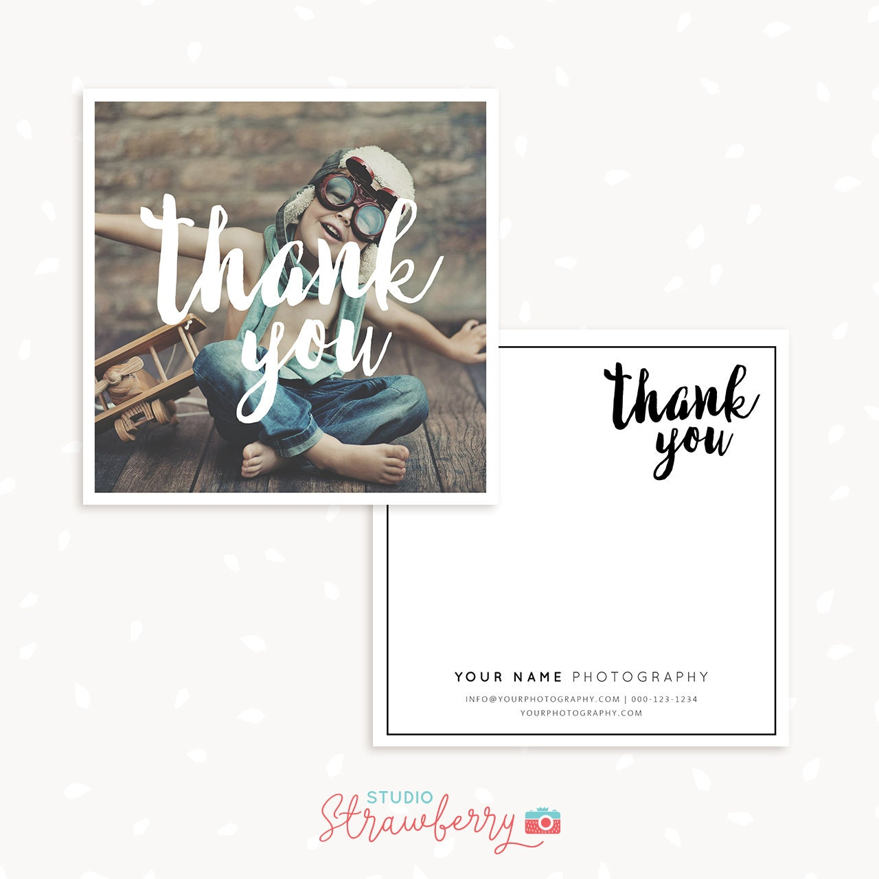 Thank You Note Cards Template For Photographers Thank You
