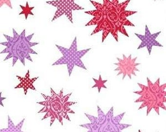 SALE, Windham Fabrics, Two by Two, Pink Stars, 1 yard