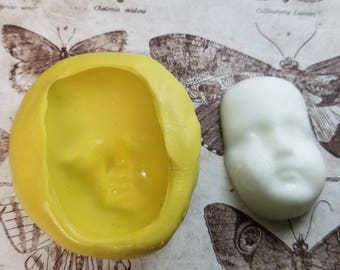 Vintage Style Silicone Doll Face Mold
