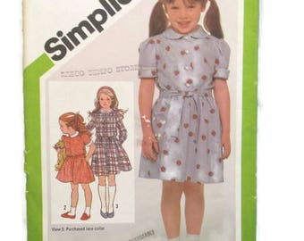Simplicity 9988 Girls Pullover Dress Size 6 UNCUT