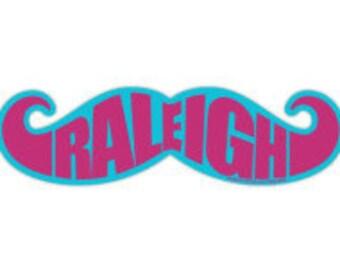 Raleigh North Carolina NC Mustache Sticker