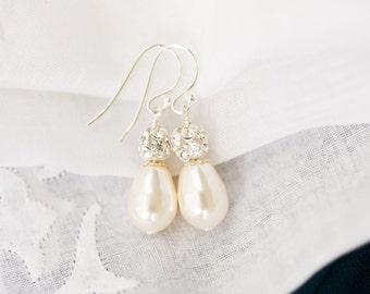 Wedding Earrings for Brides, Pearl Bridal Earrings, Wedding Jewelry