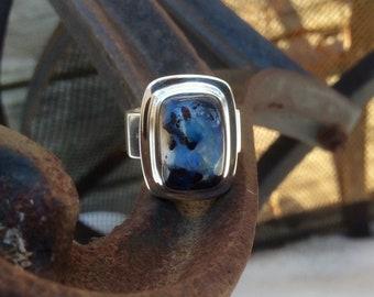 Australian Boulder opal ring. Size 8