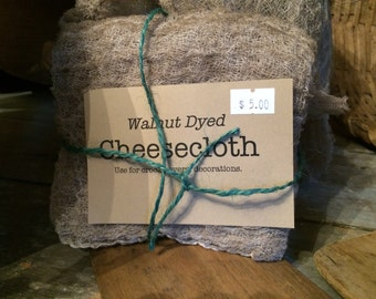 Walnut-Stained Cheesecloth for Primitive Decor