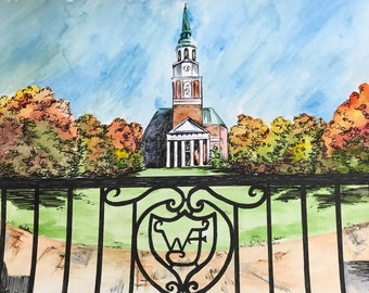 Wake Forest Print