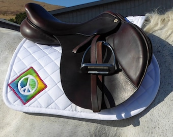 Be Remembered! White English Saddle Pad for All Purpose Saddles, The Summer Love Collection for All Purpose Saddles LA- 70