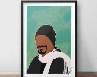 Snoop Dogg INSPIRED Print / Poster - Digital Copy
