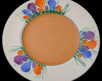 Clarice Cliff Autumn Crocus Plate