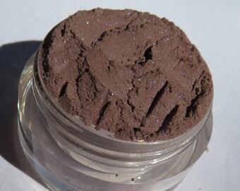 Dark Brown Mineral Eyeshadow | Cruelty-free | Golden Shimmer Vegan Brown Eye Shadow or Eyeliner-Tumbleweeds