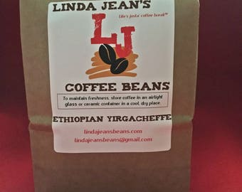 ETHIOPIAN YIRGACHEFFE-12 oz Whole Bean Fresh Roasted Coffee