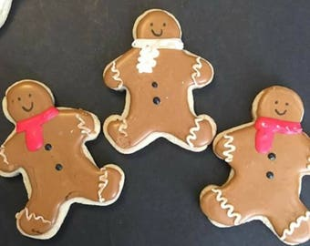 12 Christmas  Gingerbread man sugar cookies