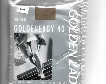 GOLDENERGY suede 40 size 2 denier tights