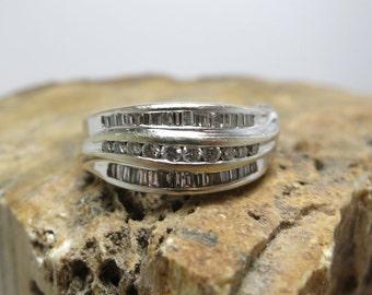 diamond wedding band white gold 14k