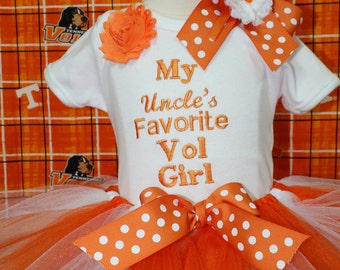 Tennessee, Tennessee Volunteers, baby girl clothes, baby girl, baby shower gift, new baby gift, bodysuit, baby tutu, orange, white, tshirt