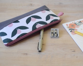 Pencil Case in Tove Blush Pink, Valentines Gift, Pen pouch, Zip pouch,
