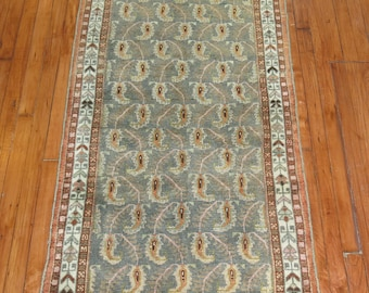 Antique Persian Paisley Malayer Rug Size 2'9''x5'