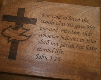 Customized Scripture Cutting Board Gift USA Shipping Included