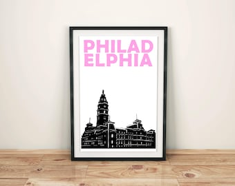 Philadelphia Print // Philadelphia Art // Pennsylvania Wall Art // Philadelphia Poster // Pennsylvania Art // Gift for Her // Gift for Him