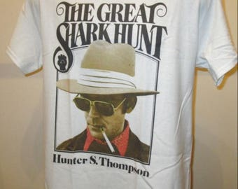 Hunter S Thompson Printed T Shirt - The Great Shark Hunt - New W348 Mens Womens Tee
