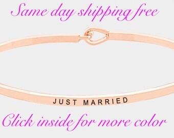 JUST MARRID. - clasic thin hook bracelet