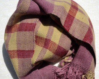 Purple Scarf, Wool Scarf, Angora Scarf, Warm Scarf, Soft Scarf, Long Scarf, Scarf, Wide Scarf, Naturally Dyed Scarf, Handwoven Scarf, 110