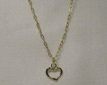 Simple Gold Heart Chain Necklace - Item #104
