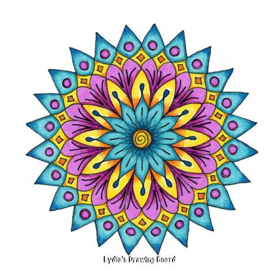 Mandala Art, Mandala Wall Art, Mandala Print, Meditation Art, Yoga Studio Decor, Spiritual, Peaceful Art, Sacred Geometry Art, Yoga, Mandala