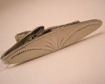 Vintage Sterling  Silver Tie Bar Clip