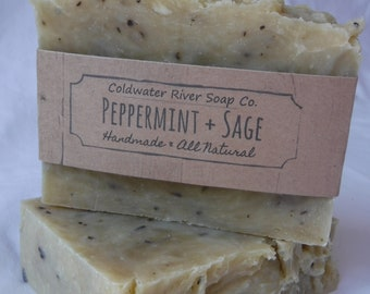 All Natural Peppermint & Sage Soap