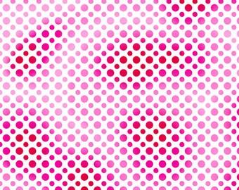 Half Yard Fabric-Ombre Dots-QT Fabrics-Red Pink Dot
