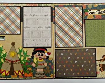 Indian Cuties Double Page Scrapbook Layout
