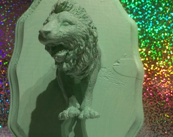 Faux Taxidermy - Mint Green Lion