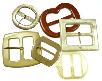 Vintage belt buckles ybrown mix