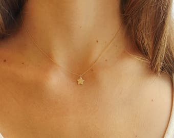 Star Necklace, Gold Star Necklace, Little Star, 14k Gold Filled, Dainty Necklace, Sterling Silver, Minimal Necklace, Charm Necklace