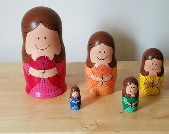 Rainbow Nesting Dolls