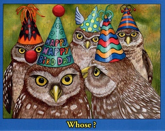 "Birthday card- ""Whose?"""