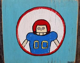 """Sport theme kids room baby nursery football theme art for kids football fan football player sports fan  11.5"""" x 10"""""""