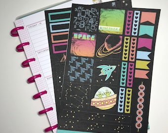 Space Adventures Mini Happy Planner Kit - Collection - Planner Stickers - Happy Planner