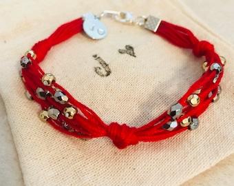 Passion red bracelets