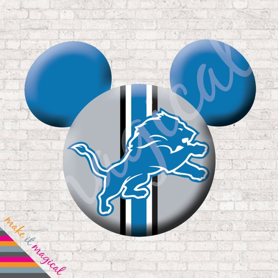Detroit Lions Mickey Mouse Head Digital Download Detroit Lions
