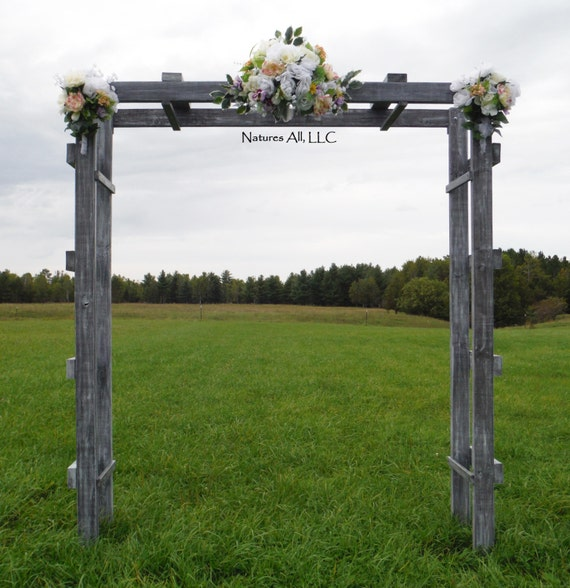 Rustic Wedding Ladder Arch/Country Wedding Decor/Rustic Wedding Arch/For Indoor Or Outdoor Weddings/Large/Available in 5 Stain Choices!