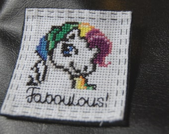 2018 Pride-LGBTIQ-badges and pendants from bag-themed pride-quotes, embroidery, Rainbow, pirates and mermaids. Say it loud, say it all the time!
