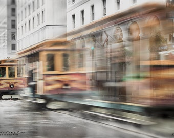 Triple blur at California and Sansome Street