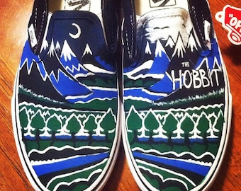 Hand Painted Shoes- The Hobbit Book Cover (Vans or TOMS)