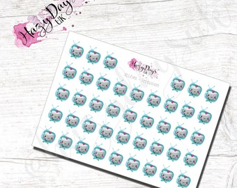 Kawaii Utilities Television reminder - Cute TV, Planner Stickers for ECLP, Happy Planner, TN, Personal Planner etc