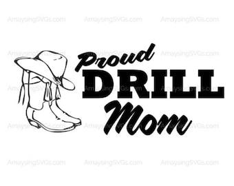 drill team mom etsy rh etsy com drill team boot and hat clipart drill team dancer clipart