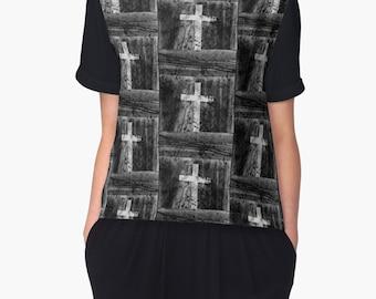 PERSISTENCE Chiffon Top Clothing Wearable Art Woman Teen Girls  XS S M L XL 2XL